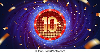 10 Percent Discount Background