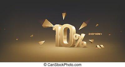 10 Percent Off Discount Sale