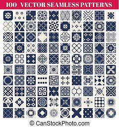 100 Seamless Patterns Background Collection - for design and scrapbook - in vector