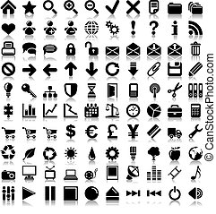 100 vector icons.