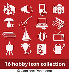 16 hobby icon collection