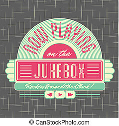 1950s Jukebox Style Logo Design - All fonts shown are for visual purposes only and freely availalble for open license use from sources such as google fonts.