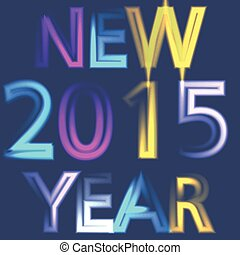 2015 year neon lights vector background concept
