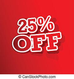 25 percent Off Sticker