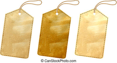 3 Sale Tags With Gradient Mesh, Vector Illustration