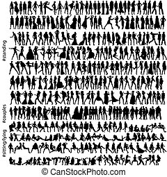 hundreds of fashion silhouettes