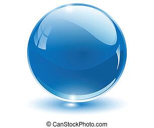 3D crystal sphere, vector illustration.