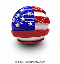 3D - Flag of the United States.