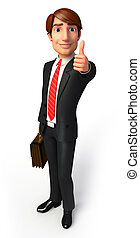 3d rendered illustration of Young Business man
