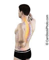 a man having a backache