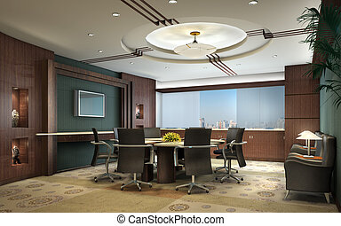 3D rendering of an empty meeting room