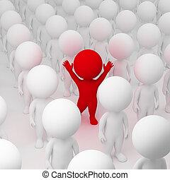 3d small people - segregate