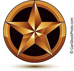 3d vector classic royal symbol, sop