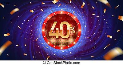 40 Percent Discount Background