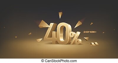 40 Percent Off Discount Sale