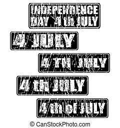 4th of July celebration rubber stamp