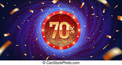 70 Percent Discount Background