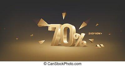 70 Percent Off Discount Sale