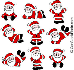 9 Festive Cute Santa Set for Christ