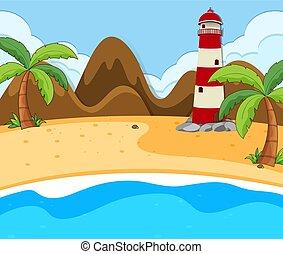 A beach summer scene