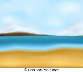 A blur beach seascape