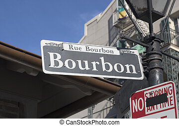 A Bourbon Street sign