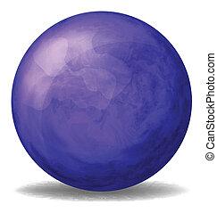 A dark blue ball