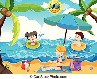 A Family Summer Holiday at Beach