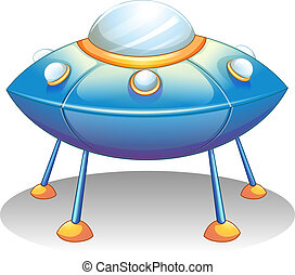 Illustration of a flying saucer on a white background