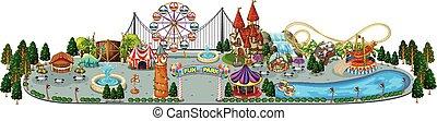 A Fun Amusement Park Map