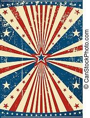 grunge patriotic poster