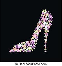 a high heel shoe