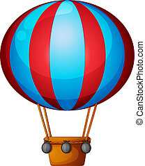 Illustration of a hot air balloon on a white background