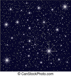 A Night Sky Background with Stars