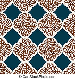 seamless vector pattern with quatrefoil gingerbread cookies