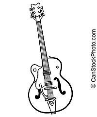 a simple Electric Guitar line art illustration