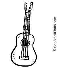 a simple Ukulele line art illustration