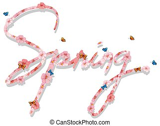 A spring text letter