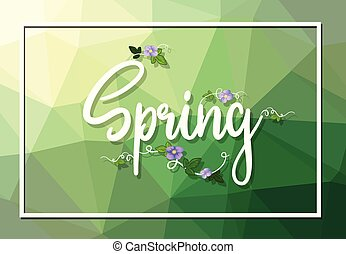 A spring text template