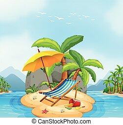 A summer beach island
