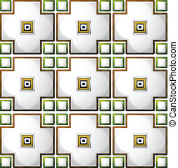 A tile pattern template