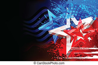 illustration of abstract American Flag for Independence Day