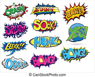 Abstract Art of Set of Comic Expression Vector