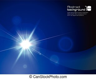 Abstract background with flare.