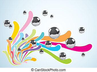 Abstract background with metal ball