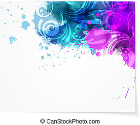 Abstract background with modern swirly design