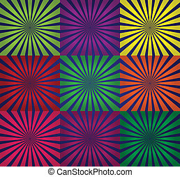abstract background with rays