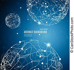 Abstract Background with Sphere Space. Vector