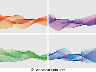 abstract backgrounds set (vector)
