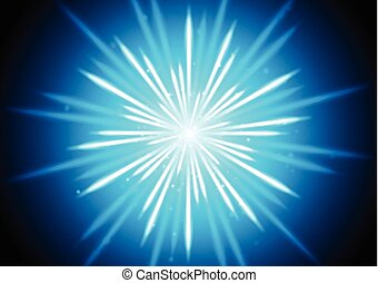 Abstract blue glowing beams background